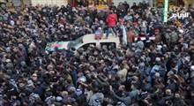 تشییع پیکر مطهر شهید سپهبد سلیمانی و شهید المهندس در عراق + فیلم و تصاویر