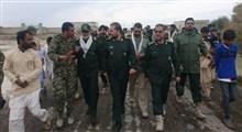 بازدید رئیس سازمان بسیج مستضعفین از مناطق سیل زده شهرستان چابهار