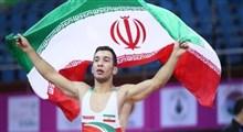 پویا ناصرپور به مدال طلای رقابت های کشتی فرنگی قهرمانی آسیا رسید