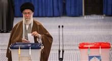 رهبر معظم انقلاب در حسینیه امام خمینی(ره)، آراء خود را به صندوق انداختند