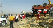 تصادف تریلی با اتوبوس در محور ماهیرود به سربیشه؛ ۲۰ کشته و زخمی