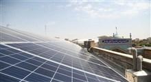 گزارش تصویری افتتاح نمادین 12 نیروگاه خورشیدی بقاع متبرکه استان قم در امامزاده سیدعلی قم
