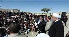 رئیس جمهور در مناطق سیل زده: در کنار مردم استان سیستان و بلوچستان هستیم