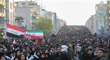 گزارش تصویری تشییع میلیونی سردار شهید قاسم سلیمانی و شهدای مقاومت در تهران