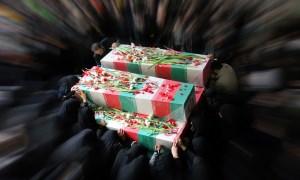 وداع باشکوه با ۱۵۰ شهید دفاع مقدس و مدافع حرم + تصاویر