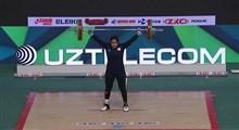 تاریخسازی دختر وزنهبردار ایران در قهرمانی جوانان جهان/ یکتا جمالی در یک ضرب برنز گرفت