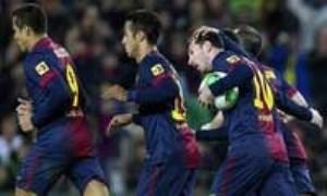 صعود بارسلونا به نیمه نهایی جام حذفی