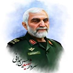 نقاشی دیجیتال سردار شهیدحسین همدانی