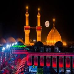 تصویری زیبا از گنبد حرم امام حسین علیه السلام