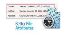 دانلود Better File Attributes v2.12.0 - نرم افزار تغییر تاریخ و زمان ایجاد، اصلاح و دسترسی به فایل ها