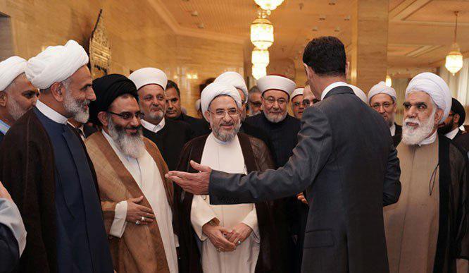 بشار اسد در دیدار با آیت الله اراکی : مطالبی که رهبر معظم انقلاب اسلامی درباره اینجانب فرمودهاند موجب افتخار من است + عکس