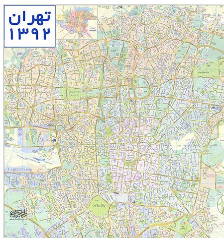 نقشه تهران ۹۲ با کیفیت بالا