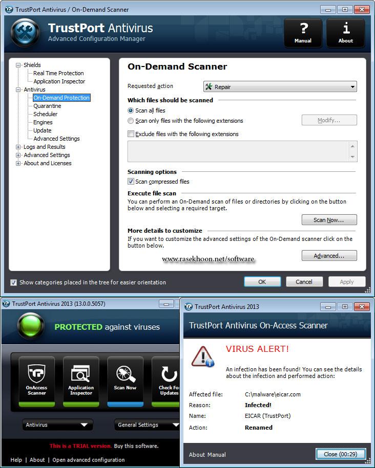 دانلود آنتی ویروس Trustport Antivirus 2013 دانلود نرم افزار Avira Antivirus Premium 2013 13 0