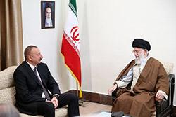 دیدار دیدار رئیس جمهوری آذربایجان با رهبر انقلاب