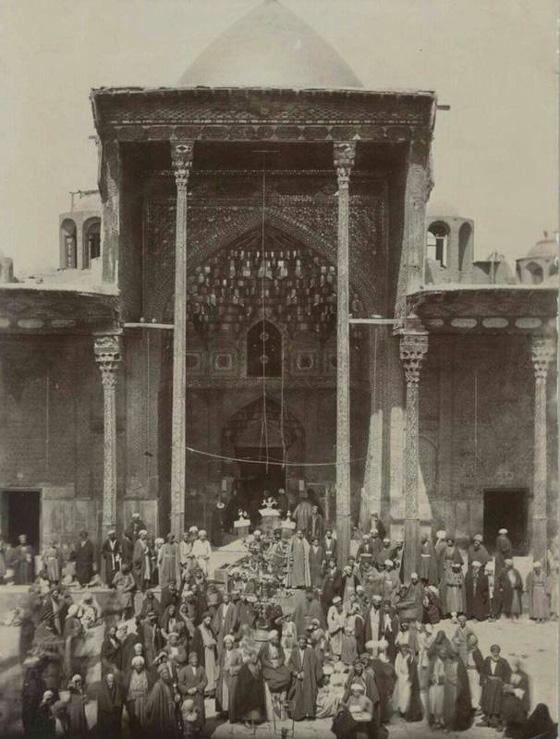 عکس صد سال قبل از صحن حرم امام حسین(ع)