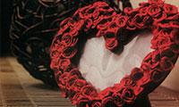 اموزش ساخت قاب عکس حرفه ای با گل قرمز