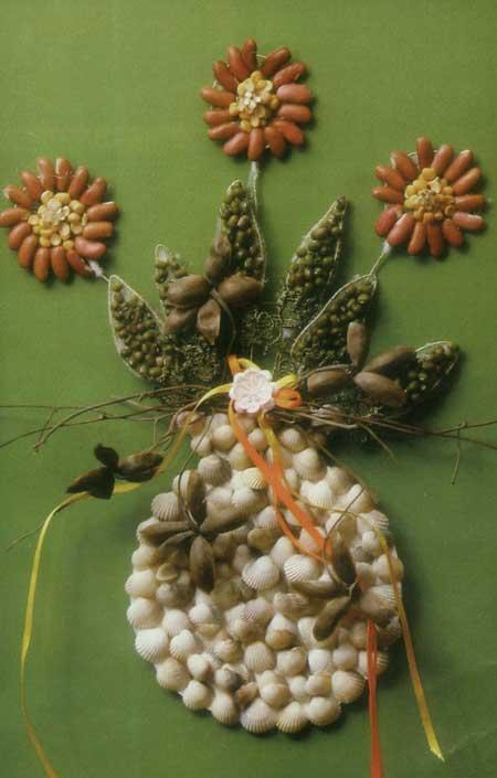 چیست کلاژ گلدان با حبوبات