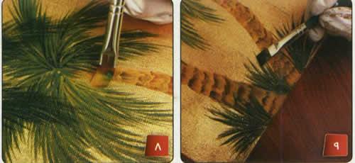 نقاشی درخت نخل بامداد گالری عکس