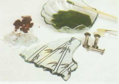 ساخت جاکلیدی با طرح بامبوPAINTING GLASSوFUSE
