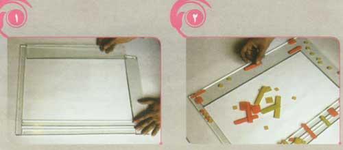 ساخت قاب آئینه به روش فیوزینگ گلاس