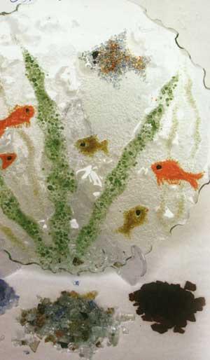 ساخت دیوار کوب تزئینی با طرح اکواریوم فیوز گلاس (هم جوشی شیشه )FUSEGLASS