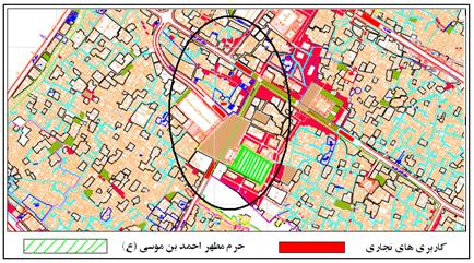 Image result for نقشه شیراز حرم شاهچراغ