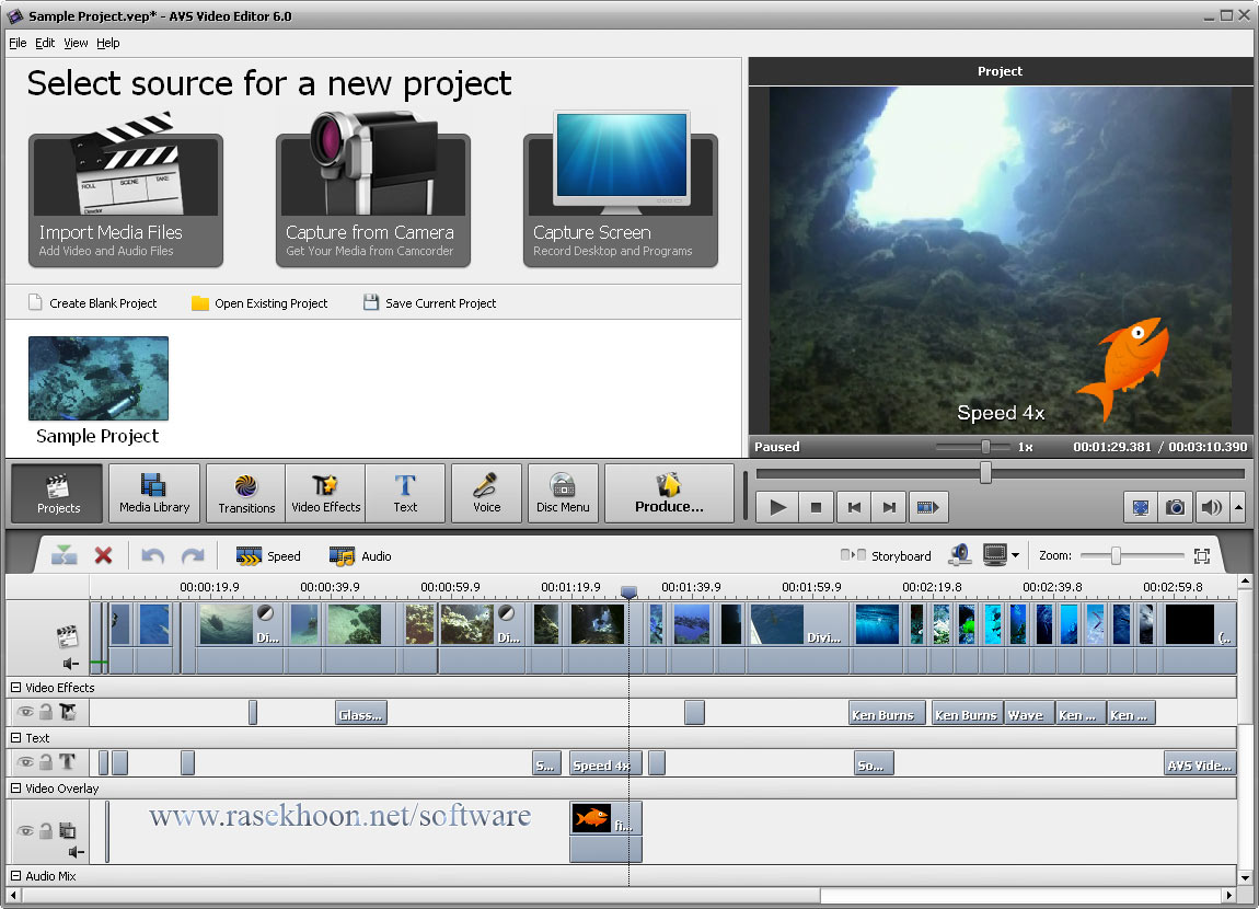 AVS Video Editor 6.0.2.183 + crack (patch) Русская версия.