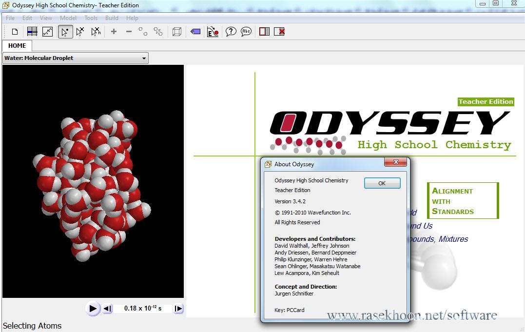 ... نرم افزار WaveFunction Odyssey High School Chemistry v3.4.2