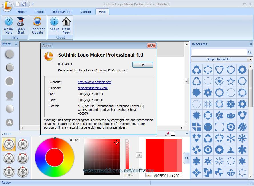 ساخت و طراحی لوگو های زیبا توسط Sothink Logo Maker Professional ...بهینه سازی تنظیمات رنگ ها برای طراحی لوگو - دارای ۴۰ فونت متنی و ۶ افکت متنی موج دار - دارای ۲۵۰۰ وکتور گرافیکی در ۱۷ سبک - دارای ۴۰۰ طرح رنگ